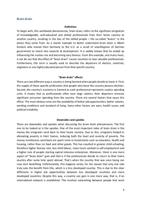 Brain Drain Essay by Essays On Brain Drain Essay On Brain Drain To Usa Brain Drain The Collegian Paragraph On