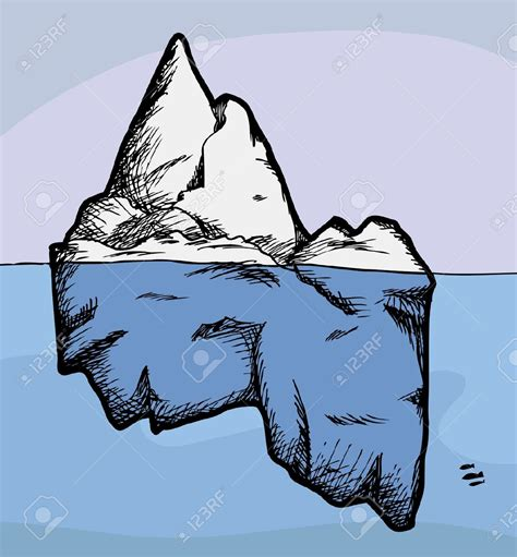 clipart iceberg iceberg clipart pencil and in color iceberg