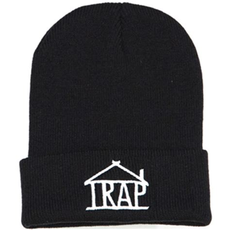 trap house clothing trap house clothing trap logo beanie