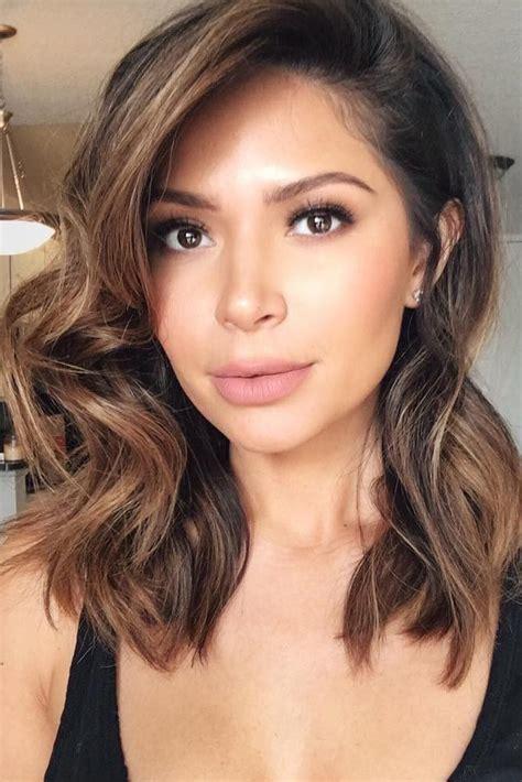 pinterest everything hair caramel balayage highlights haircut bangs hair 2017