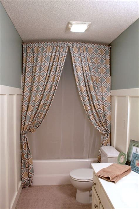 how to make a curtain into a shower curtain a chic diy trick suburbanspunk turns zgallerie panels