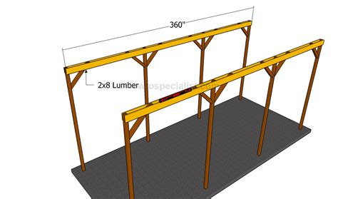 Attached Carport Pictures How To Build A Wooden Carport Howtospecialist How To