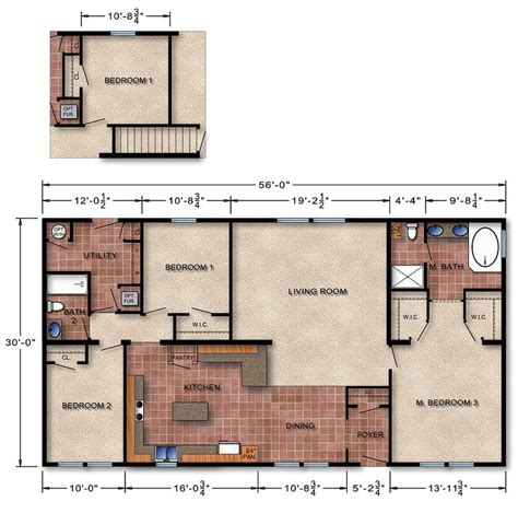 modular ranch house plans michigan ranch modular home floor plan 170 home ideas
