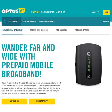 optus prepaid mobile optus prepaid mobile broadband deals 130 for 22gb 2
