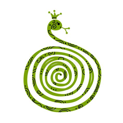 new year 2013 snake element snake symbol of new year 2013 stock vector