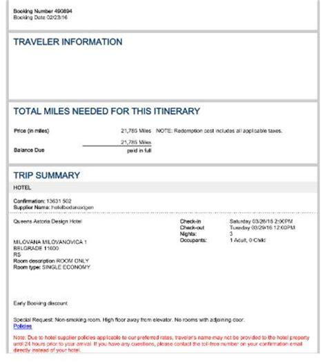 Reservation Letter For Trip Hotel Reservation Confirmation Picture Of S Astoria Design Hotel Belgrade Tripadvisor
