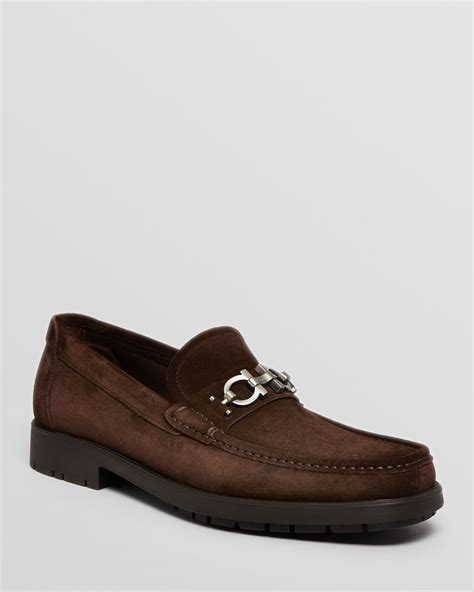 ferragamo master loafer sale ferragamo master suede loafers in brown for t moro