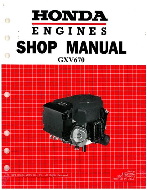 small engine service manuals 2005 honda element windshield wipe control honda gxv670 engine shop manual