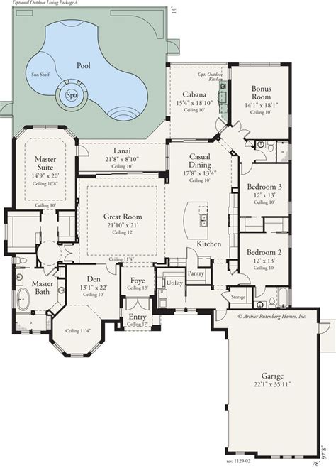 outdoor living floor plans this custom 3 bed 3 bath home features an open floor plan