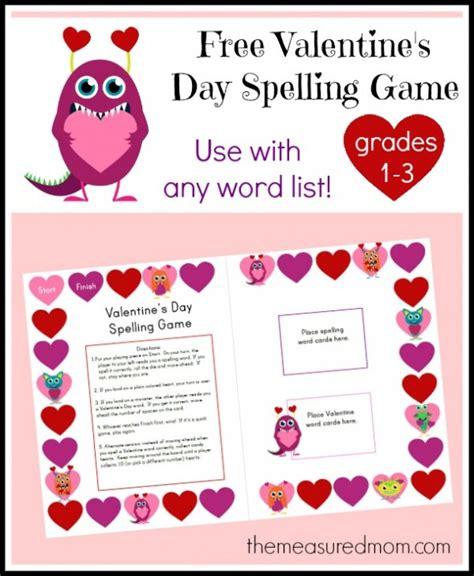 valentines word list free s day spelling the measured