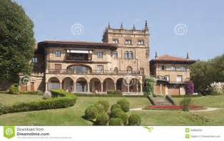 small houses that look like castles castle look a like house in getxo bilbao spain stock