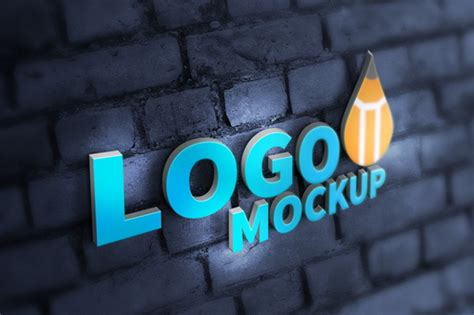 50 free logo psd mock ups for presenting a new logo