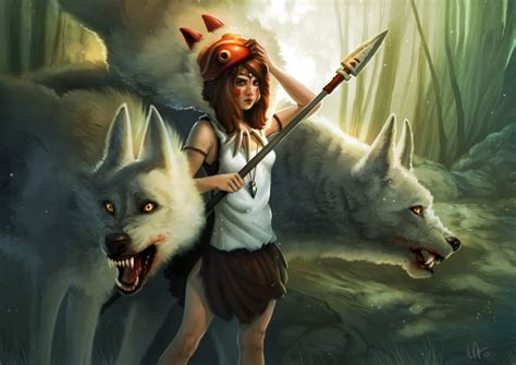 anime film wolves kelly perry art illustration personal work princess