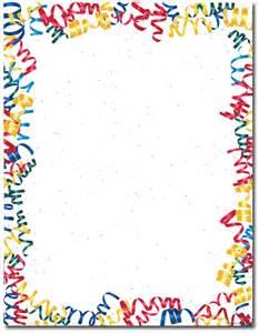 throw a party confetti streamers letterhead