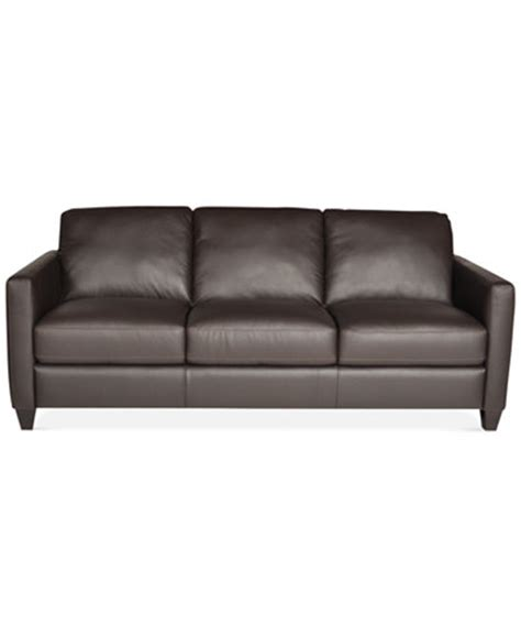 leather sofa macys emilia leather sofa only at macy s furniture macy s