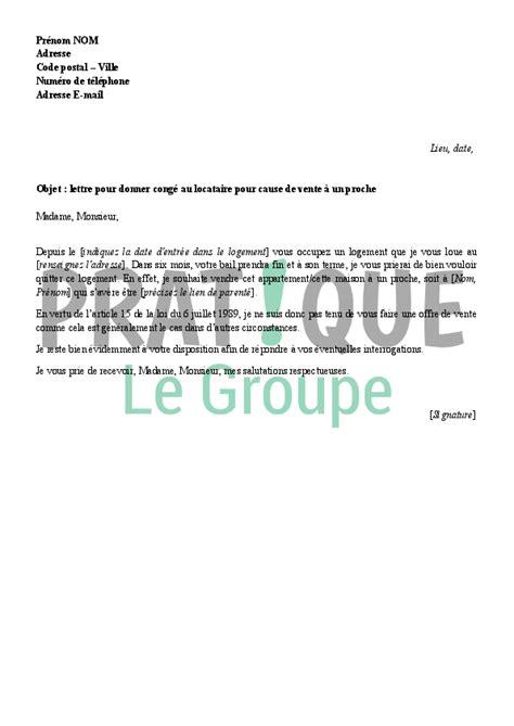 Exemple De Lettre Non Renouvellement Bail Lettre Pour Donner Cong 233 Au Locataire 224 La Fin De Bail Pratique Fr