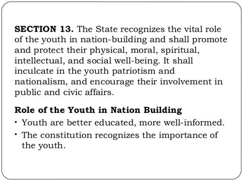 Of Youth In Nation Building Essay by Article 2 Revised Rpc