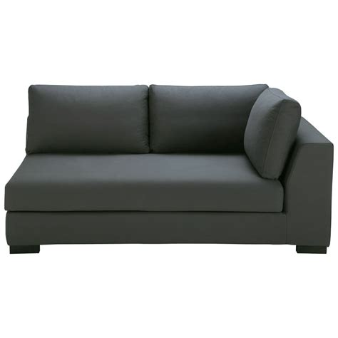 slate grey couch slate grey cotton modular sofa right armrest terence