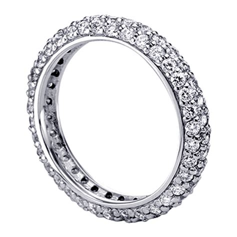 2 20 ct all around pave set eternity ring in 18k