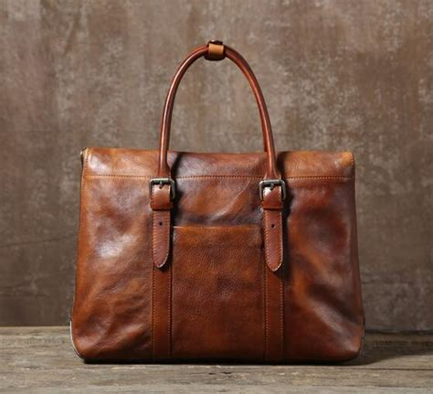 3685 Gelang Kulit Vintage Leather handmade vintage leather briefcase 14 laptop bag s fashion busin lisabag