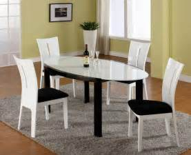 Glass top modern oval dining table with microfiber seats in high