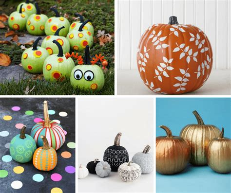 painted pumpkins a roundup of 25 no carve painted pumpkins ideas for