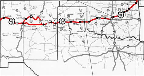 map of new mexico and texas maps route 66