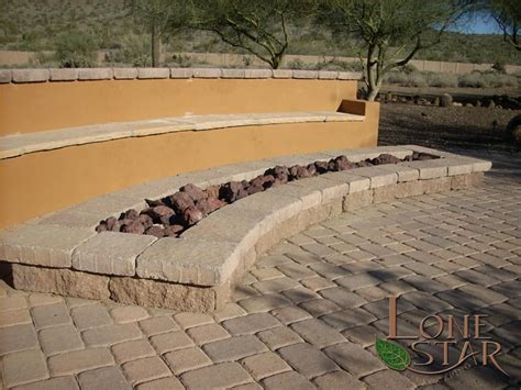 belgard pit landscape features and fireplace image gallery