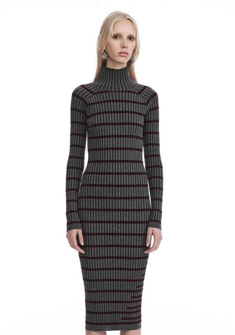 Sleeve Turtleneck Knit Dress wang sleeve turtleneck dress knit dress