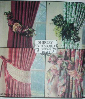 sewing pattern tie up curtains simplicity 8522 sewing pattern 11 curtain tie backs home