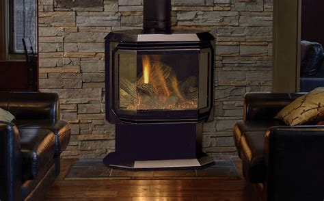 Free Standing Propane Fireplace by Fireplaces