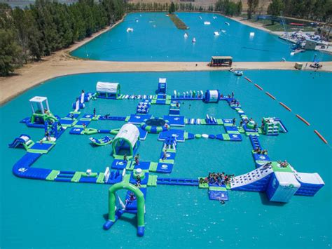 Backyard Inflatable Water Park Worth The Drive Inflatable Aqua Park Playground Near