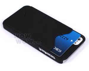 iphone with business card holder black id business credit card holder back cover for iphone 5 5g ebay