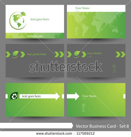 green themed business card template green theme card template vector free vector 4vector