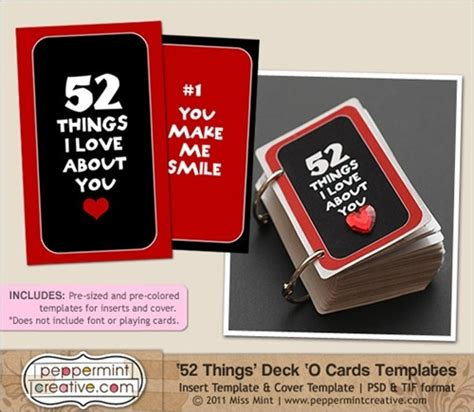 deck of cards valentines template 52 things card templatefathers day crafts day