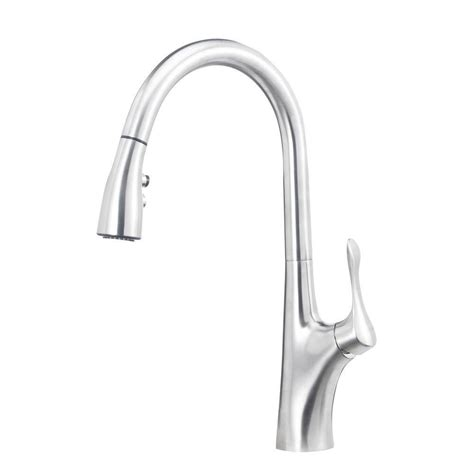 blanco sonoma single handle pull down sprayer kitchen faucet in stainless 441647 the home depot blanco napa 1 8 gpm single handle pull down sprayer