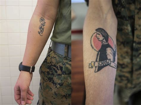 marine corps order on tattoos dvids images right to bare arms marine corps new