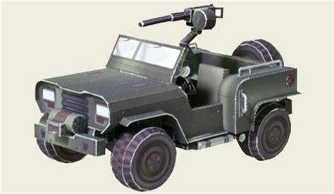 Papercraft Jeep - warhawk papercraft chernovan eucadian jeep 4x4
