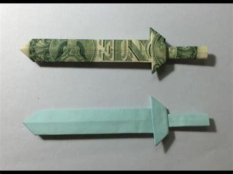 Dollar Bill Origami Sword - the world s catalog of ideas