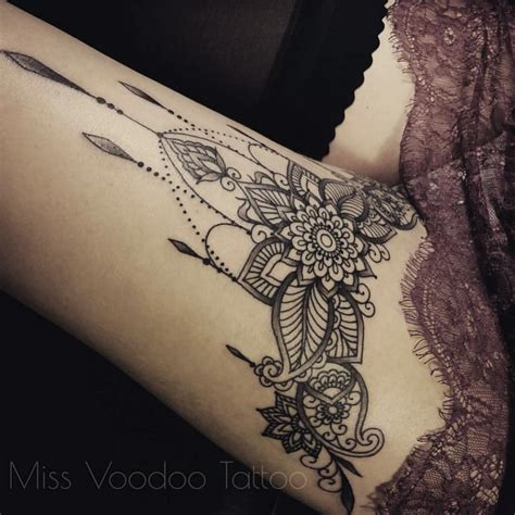 henna tattoo thigh heure bleue tattoo lyon auf instagram missvoodooo