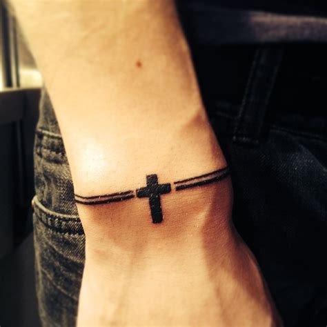 cross tattoos on wrist for men 16 bracelet tattoos on wrist for