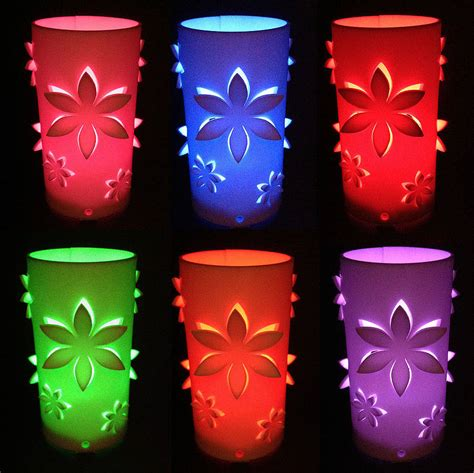 candele mangiaodori flower colour changing led battery operated light by