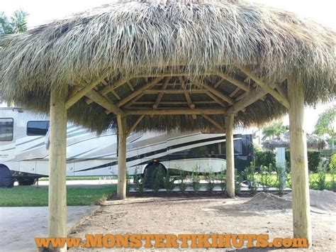 Florida Tiki Huts 12x17 Tiki Hut Build Motorcoach Resort St West Port