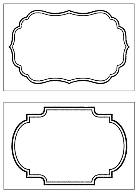 decorative borders for name tags decorative frames set labels cute collection empty border