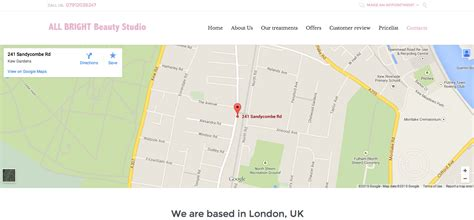contact us page with map html how to change the map in the contact us page