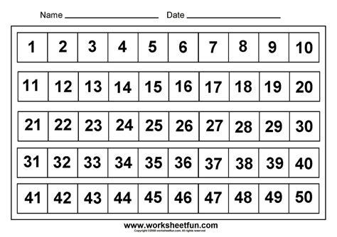 printable number chart    printable math worksheets kindergarten worksheets printable