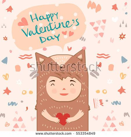 happy s day light up card template card template thank you stock vector