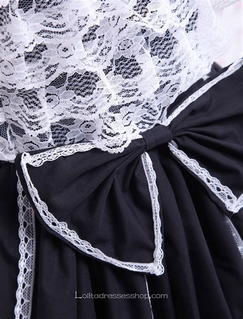 Square Neck Lace Trim Dress cheap black and white cotton square neck lace trim