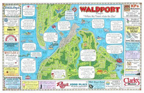 map of yachats oregon coast maps usa