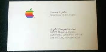 Apple Business Card Template Got 3 000 You Could Buy Steve Jobs Business Cards